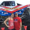 Adrian and his Wife Lindsey with Bigfoot 19 at the Diesel Truckin Nationals in 2017